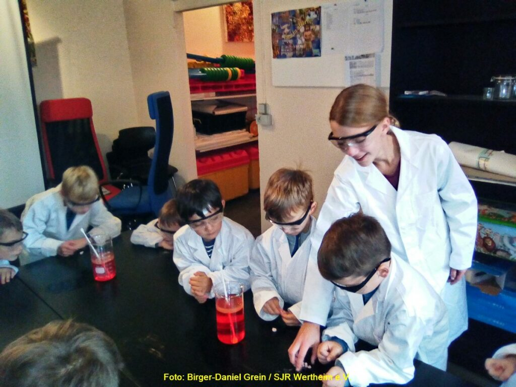 Paten unterstützen die Teilnehmer beim Forschen und Entdecken